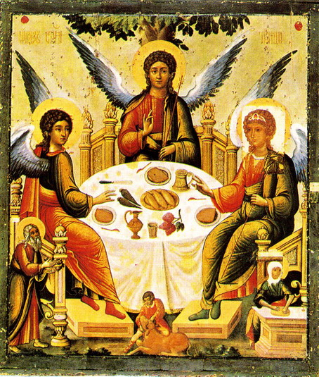 Angels eating supper, who knew?